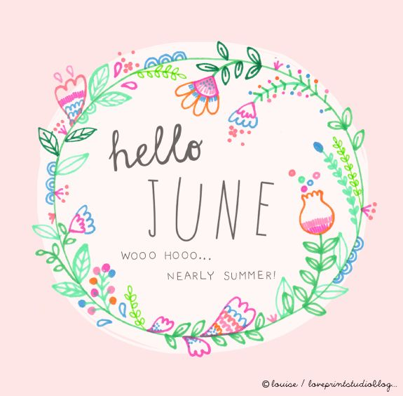 love print studio blog: Hello June... #flowers #illustration