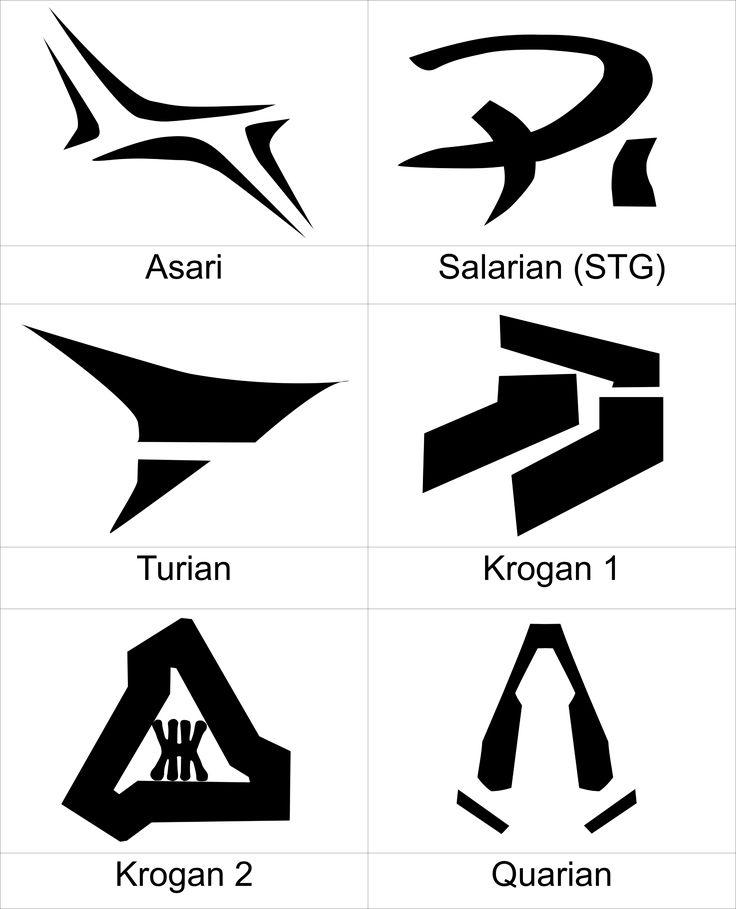 Mass Effect Race Symbols