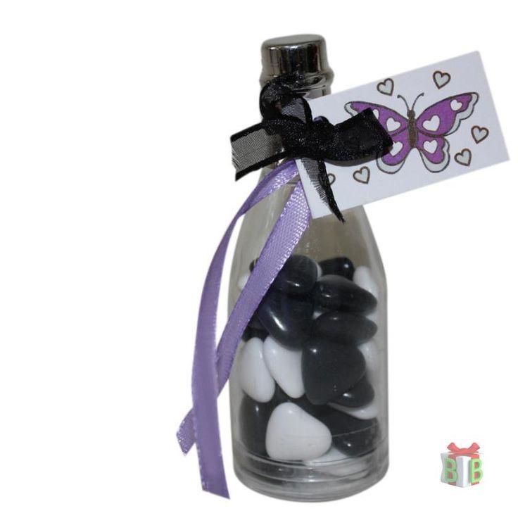 Flesje met zilveren dop