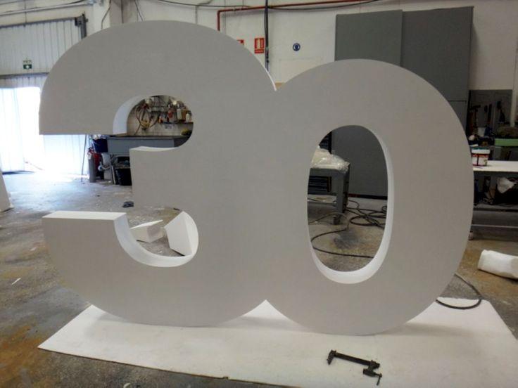 Numeros Gigantes. Para Aniversarios. www.poliespan.com