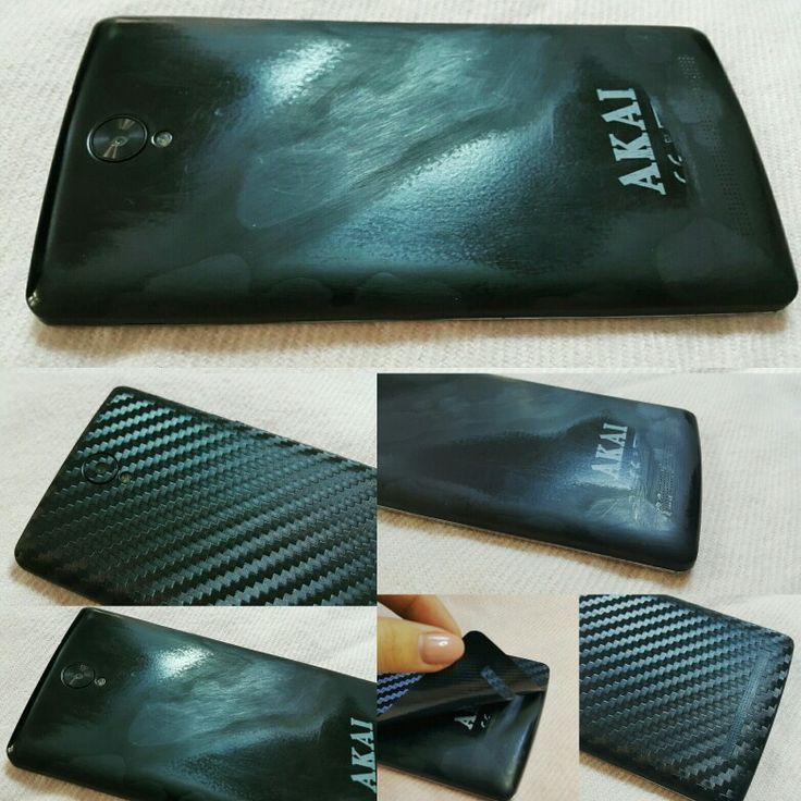 Folii Carbon material 3M Black Akai V55