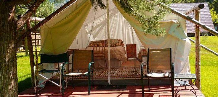 Wall tent camping tiny livin 39 pinterest camping for Wall tent idaho
