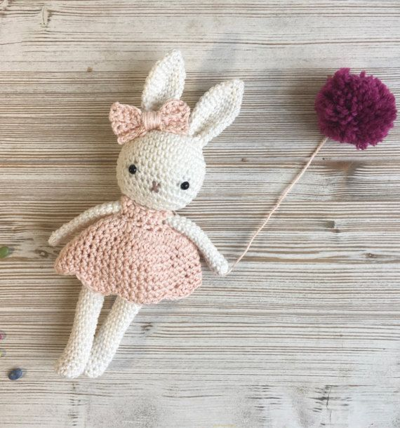 Amigurumi bunny girl,crochet bunny, crochet toy,baby bunny blossom easter, bunny dress, child gift, newborn birth gift, newborn shower gift