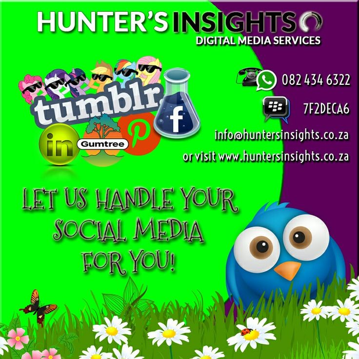 Let's face it. Running a successful business can take its toll and time for constant active marketing is almost always non-existent. Well why not allow Hunter's Insights to undertake this for you?   From as little as R500 per month, Hunter's Insights can actively market your business on various platforms on a daily basis whilst you get to sit back and focus on the other aspects, in the process acquiring more clients. Our price is no where near to what other #socialmediamarketing companies in…