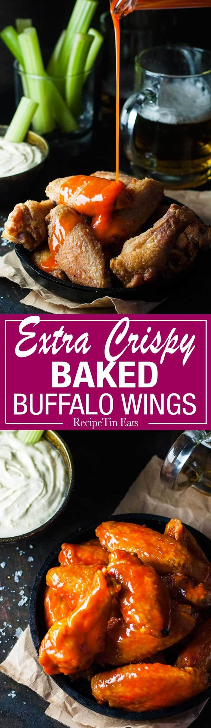 Oven Baked Buffalo Wings - no false promises here, these wings really ...