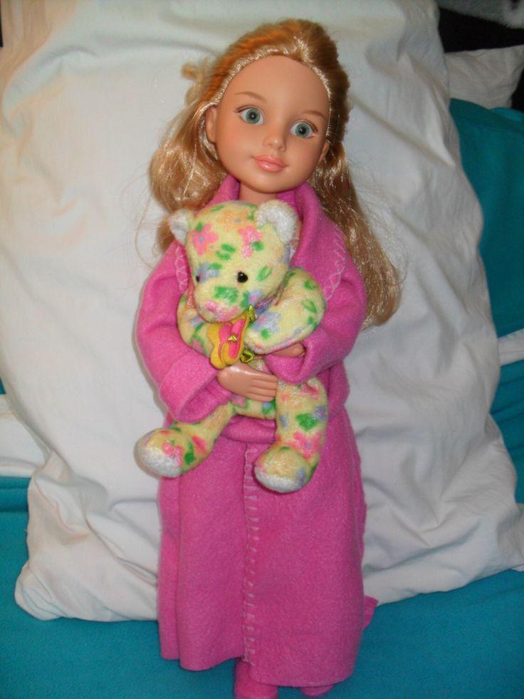 Cute Nightgown and Bathrobe SET with Stuffed Bear for 16 inch BFC., Ink. dolls by TimelessTreasurz on Etsy https://www.etsy.com/listing/268733414/cute-nightgown-and-bathrobe-set-with