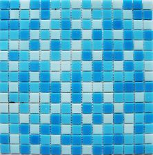 Blue Mixed Glass Mosaic Tiles for Swimming Pool, Spa, Bathroom, price per sq.m.