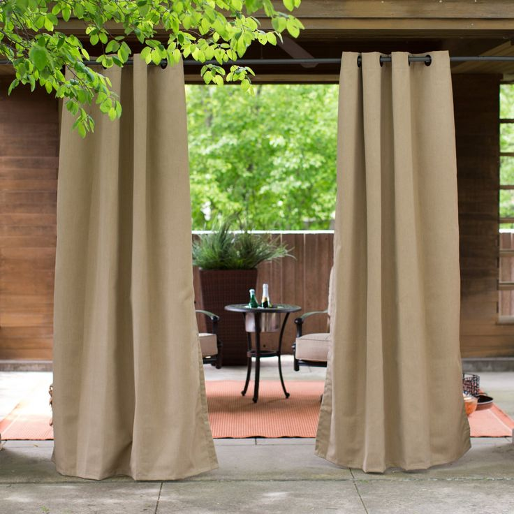 Coral Coast Sunbrella Outdoor Curtain Panel - 8695U-F45936