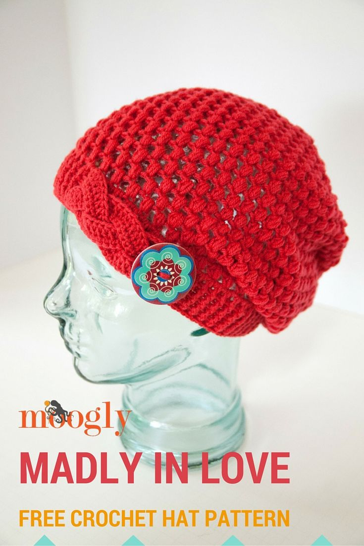 in love with this new pattern by Moogly! Free crochet hat pattern ...
