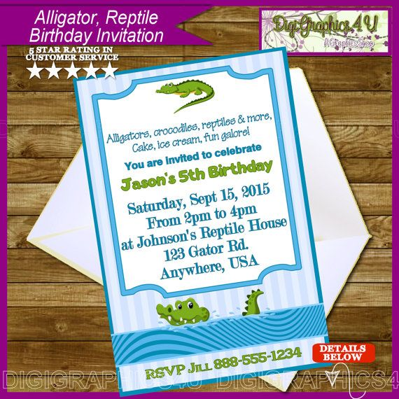 9 best graduation images on pinterest free pro graduation and alligator reptile themed boys printable birthday by digigraphics4u etsy alligator crocodile boys filmwisefo Image collections