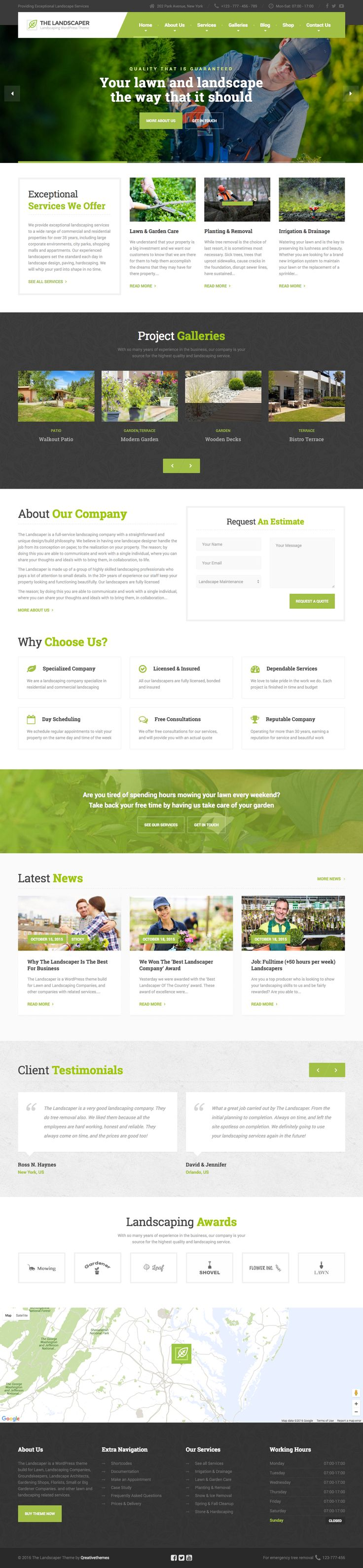 wedding invitation template themeforest%0A The Landscaper is Premium full Responsive Retina WordPress Landscaping Theme   Drag and Drop  Test free demo at ThemeForest