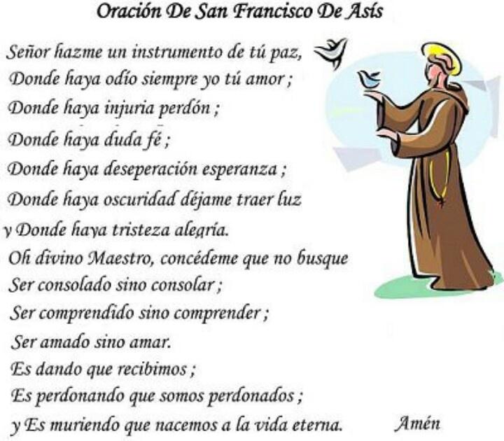 oracion San Fransisco de Asis