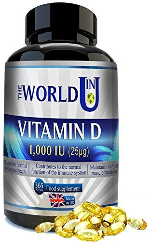 The Product Vitamin D3 1000IU 365 Softgels Rapid Absorption Vitamin D for Maintaining Normal Bones and Teeth, Muscle Function and Immune System. Made in the UK. Non-GMO. Gluten and Dairy Free.  Can Be Found At - http://vitamins-minerals-supplements.co.uk/product/vitamin-d3-1000iu-365-softgels-rapid-absorption-vitamin-d-for-maintaining-normal-bones-and-teeth-muscle-function-and-immune-system-made-in-the-uk-non-gmo-gluten-and-dairy-free/