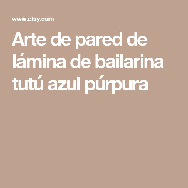 Arte de pared de lámina de bailarina tutú azul púrpura
