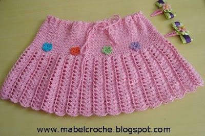 Mabel Crochê: SAIA INFANTIL DE CROCHÊ                              …