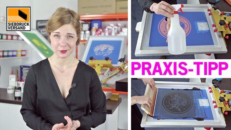 Praxis-Tipp für Siebdruck mit wasserbasierter Siebdruckfarbe