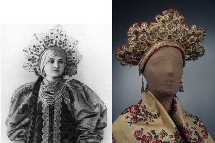Венец - головной убор, который могли носить только незамужние девушки.
