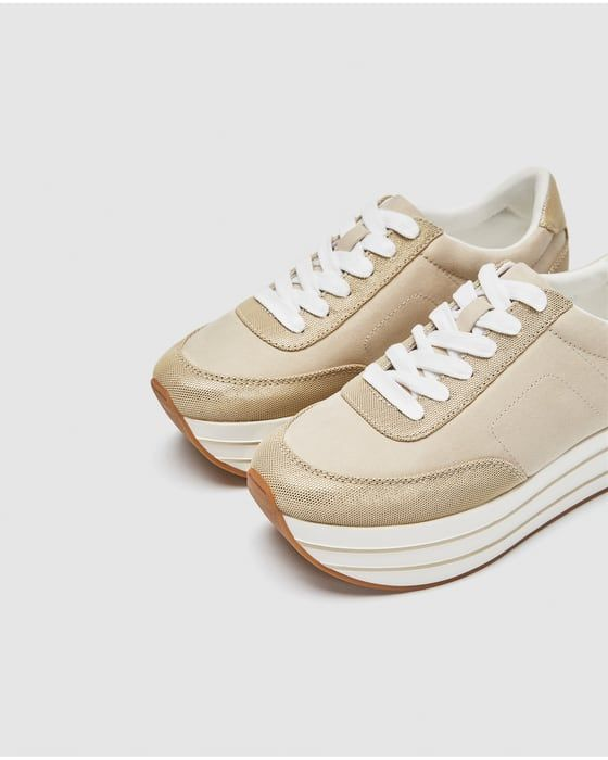 ee4897d5dc5 Image 4 of SHINY PLATFORM SNEAKERS from Zara