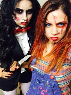 DIY Halloween Costumes. Jigsaw & Chucky