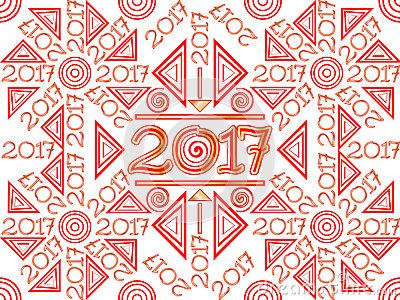 Vector Illustration 2017 Pattern Background Wallpaper in red and gold.