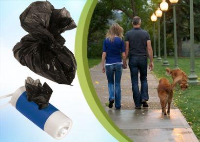 1.000 Ft helyett 590 Ft: Esti kutyasétáltatás nappali fényben! Dogs Helper kutyás zseblámpa kutyagumigyűjtő tasakokkal, fehér LED-égővel és csuklókarabinerrel 4 színben!