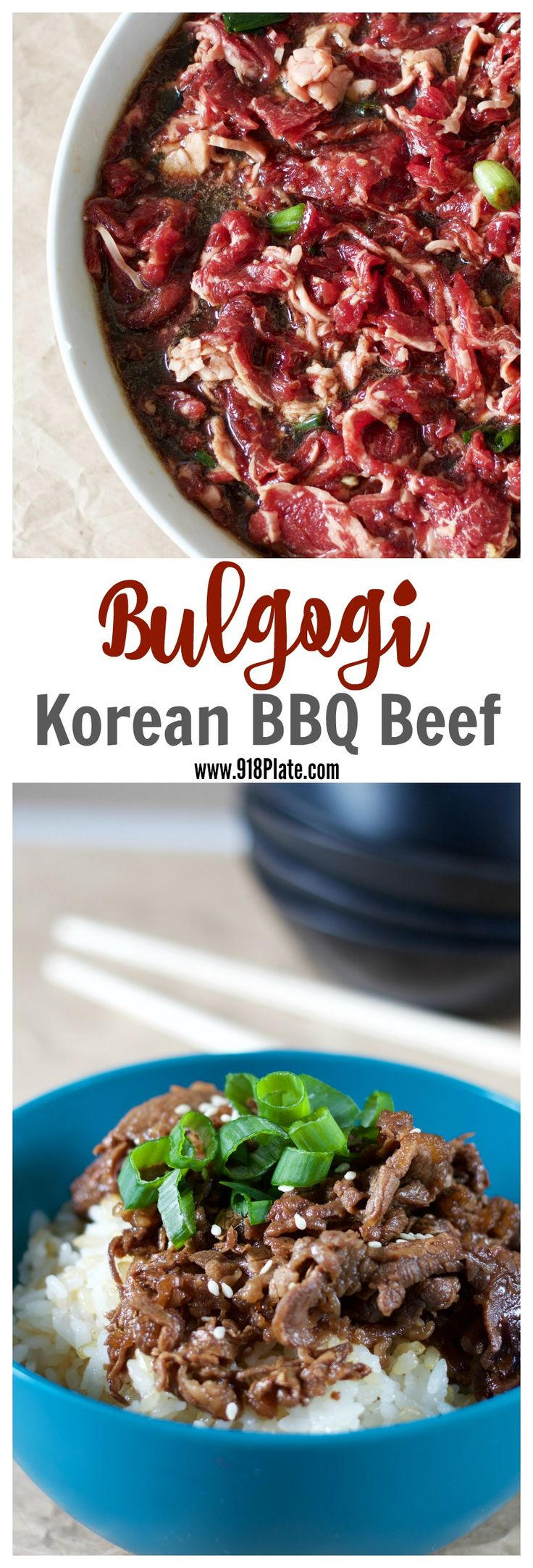 Korean BBQ beef is sweet, fast and easy to make with a 6-ingredient marinade!