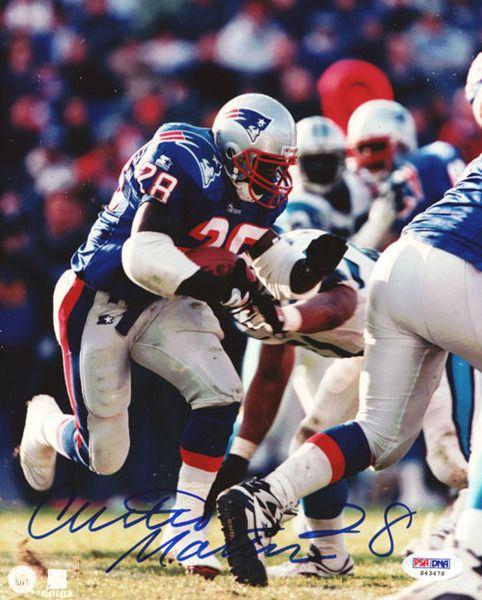 Curtis Martin Autographed 8x10 Photo Patriots PSA/DNA
