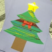 ◎12月製作◎1歳児、垂らし絵、お弁当に使うソース入れ(スポイトでもいい)冬にもなると絵の具で手が汚れても平気な子が多かったです*\(^o^)/*