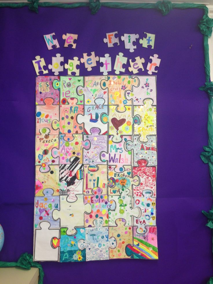Classroom Attendance Ideas ~ Jigsaw puzzle we all fit together classroom