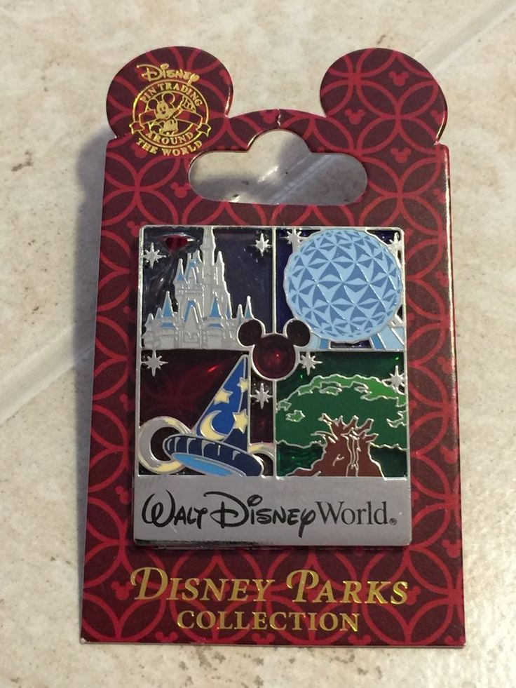 Disney World Trading Pin - Four Parks EPCOT Magic Animal Kindgom PP Proof 91928 #Disney #Pintraders