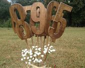 Rustic Style Wedding Table Numbers - Set Includes Numbers 1-9 - Shabby Chic - Wooden Table Numbers. $27.00, via Etsy.