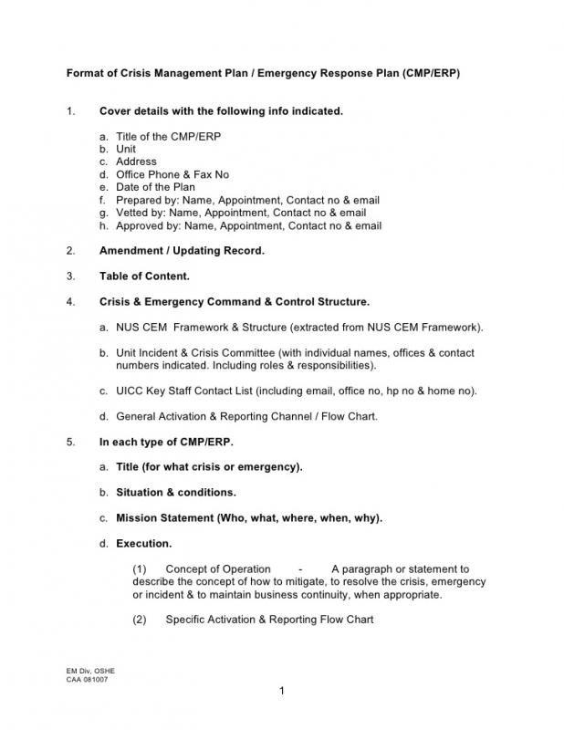Sample Emergency Action Plan Emergency Response Plan How To Plan