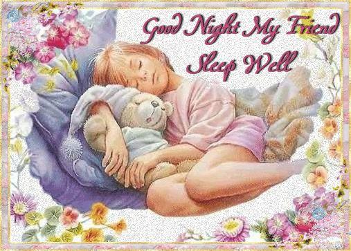 Good Night My Friend Sleep Well