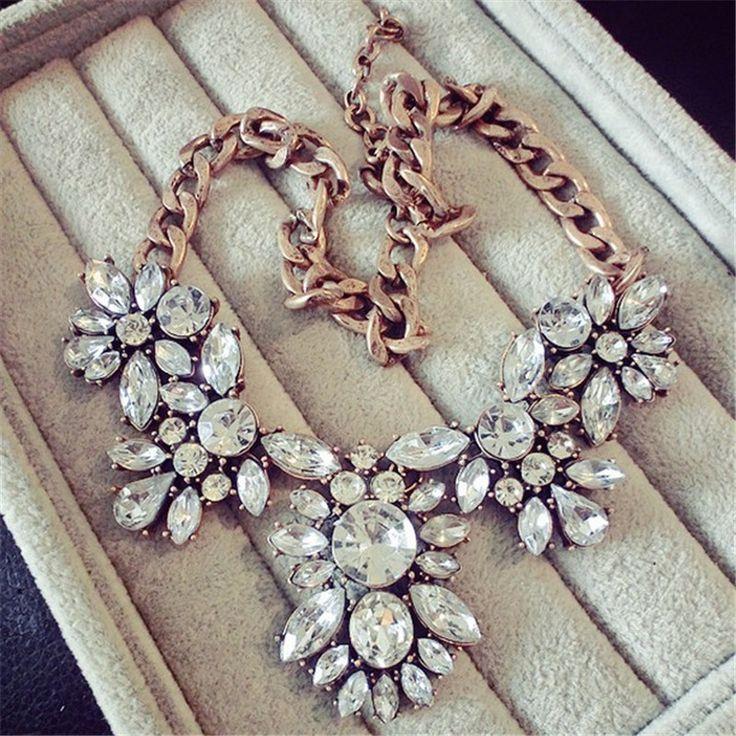 Lemon Value Femme Collier Statement Choker Vintage Crystal Collar Charms Rhinestone Pendants Necklaces Maxi Women Jewelry A180