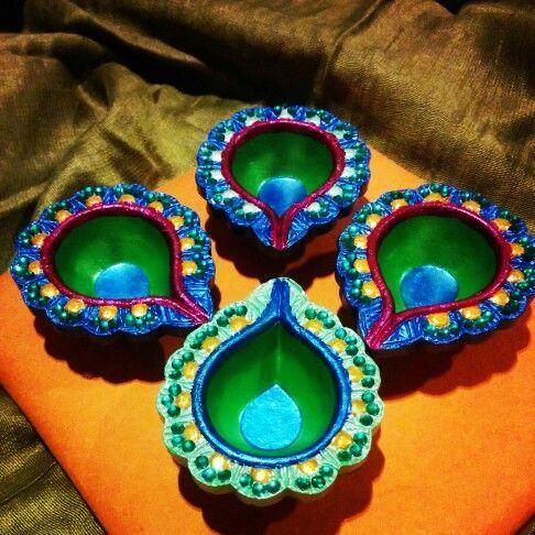 DIY hand painted Diwali Diya