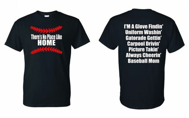 Theres No Place Like Home Baseball Mom by GraphicsUnlimitedLLC