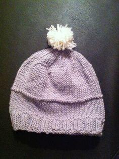 Bonnet-à-pompon-tricoté