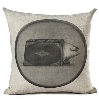 Vintage Black and White Animal Cushion Cover (28/2)