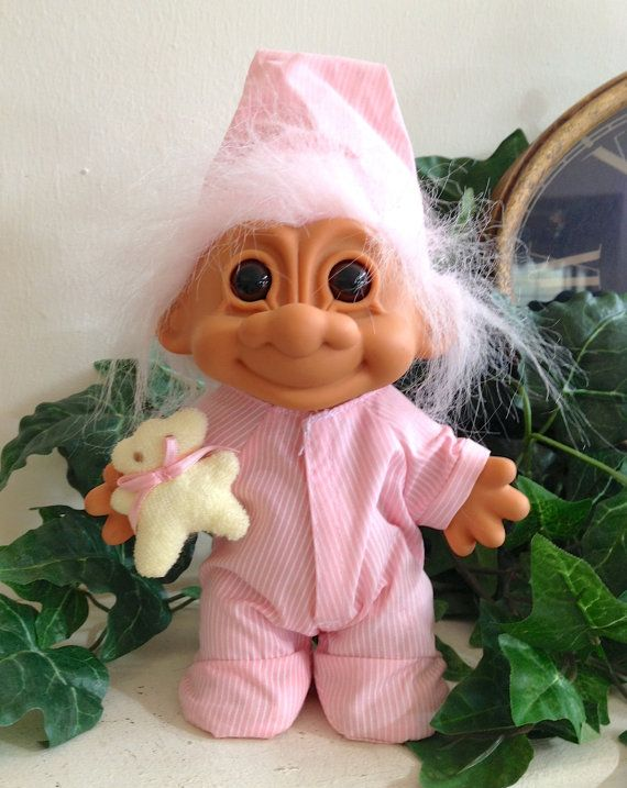 Vintage+Bedtime+Large+Troll+Doll+Russ+by+ChicHippieVintage+on+Etsy,+$20.00
