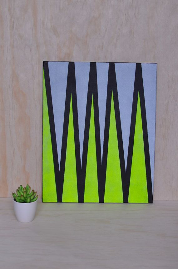 Acrylic On Canvas Painting by WallJoyXO on Etsy