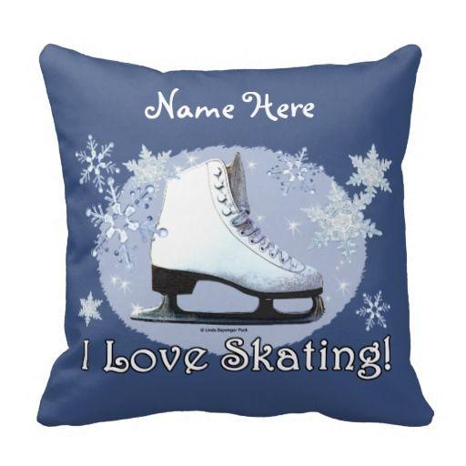 I Love Skating! Throw Pillows
