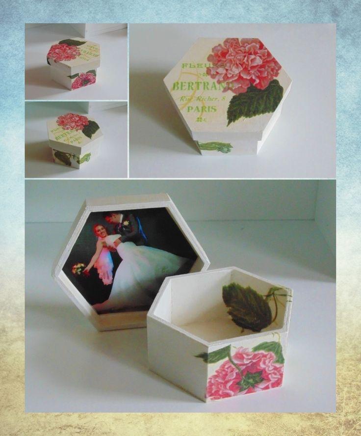 Hexagon box- photo lid