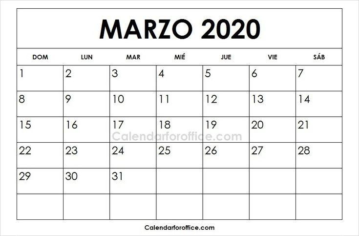 Calendario Marzo 2020 Argentina Para Imprimir.Calendario 2020 Marzo Para Imprimir 2020 Calendar 2021
