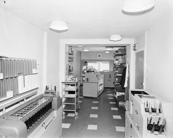 Kontorinteriør Industrikontroll a.s., Oslo 1963 Foto Leif Ørnelund