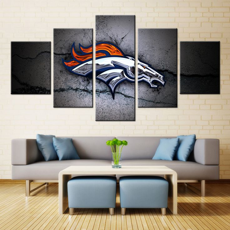 FORBEAUTY 5Panel Canvas Art Painting Spray Printings Denver Broncos() Poster Wall Pictures Home Decoration Paint Waterproof paintings *** AliExpress Affiliate's Pin. Locate the offer simply by clicking the VISIT button