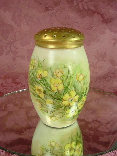 victorian sugar shaker | Antique Victorian Bavaria Sugar Shaker Muffineer, Yellow Flowers ...