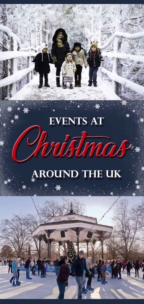 Christmas events and attractions around the UK. Christmas festivals and winter wonderlands. Ideal family-friendly festive days out at Christmas time with the kids. Lots of Christmas events in London, Birmingham, Manchester and Yorkshire, as well as the