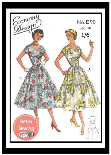 1950-х-летнее-платье-шитье-выкройка-рокабилли