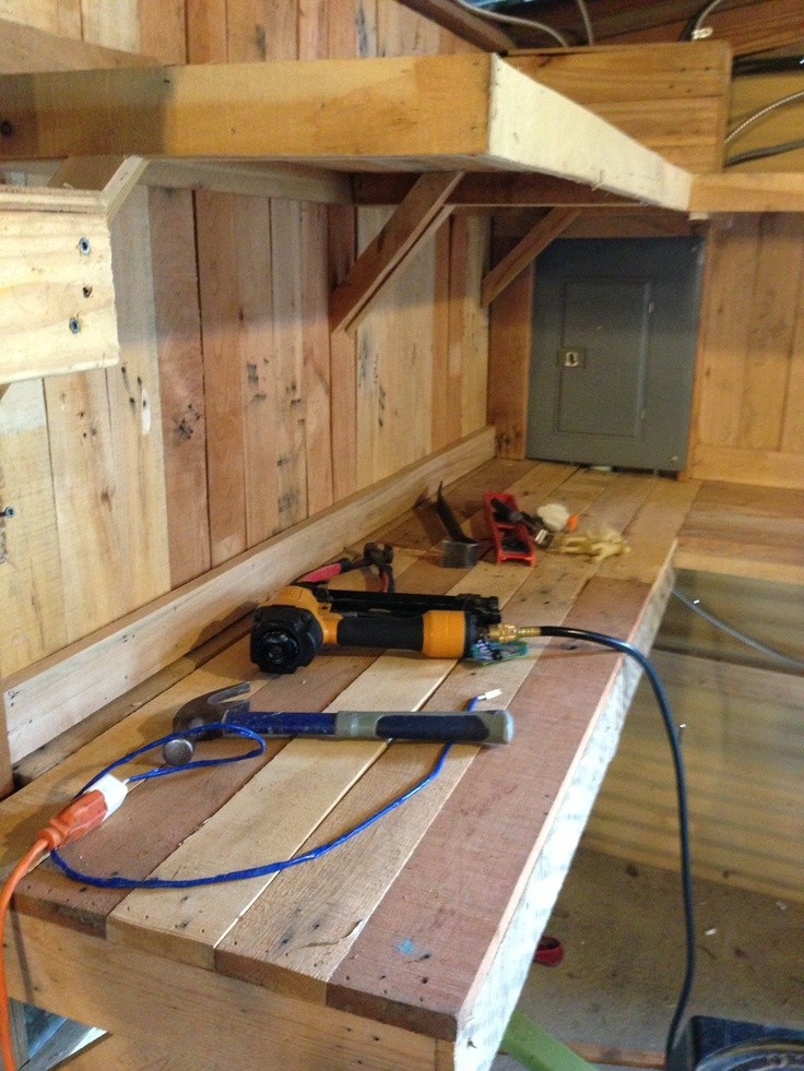 how to build shelves from pallets