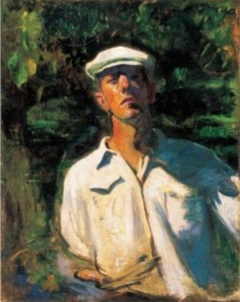 Self-Portrait in the Sunshine, 1900, by  Karoly Ferenczy (Austrian: 1862-1917)